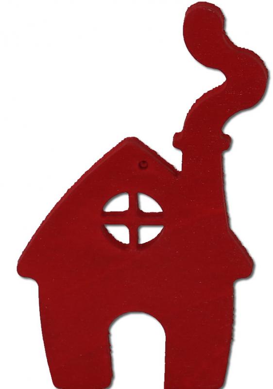 Sebastian design house red, h 9 m, for candlerings