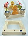 Nedholm Kerzenhalter Quadrat, natur, ohne TL-Halter