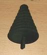 1 Holzstecker kleine runde Tanne, dunkelgrün