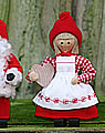 Butticki Santa woman with heart , 14 cm
