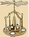Teelichtpyramide Engelstrio, Höhe 29 cm
