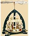 Pyramide Christi Geburt, grün,  Höhe 40 cm