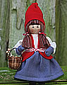 Butticki Santa woman with knitting basket , 14 cm