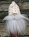 Butticki Santa with white beard, white cap, h 15 cm