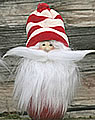 Butticki Santa with white beard, red/white cap, h 15 cm