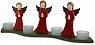 3 angels tea light wave, red