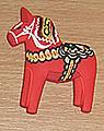 1 aimant de Dala-cheval