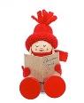 Strickmützen - Tonttu Katri mit Weihnachtsliederbuch, sitzend