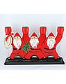 Schwedischer 4-armiger Leuchter Weihnachtsmänner, rot