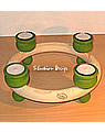 New - tealight ring 23 cms, l.green