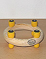 New - Mini candlering, approx. 11,5 cms, yellow