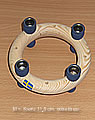 New - Mini candlering, approx. 11,5 cms, blue
