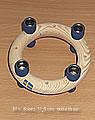 Mini-Kranz ca. 11,5 cm, blau