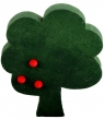 1 wood plug tree, d.green