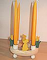 1 Holzstecker kleiner Osterhase, gelb