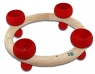 tealight ring 23 cm, nature/red