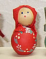 Matroschka doll mini red with 4 mm wood plug
