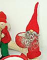Wichtel mit grauem Bart, rot, h 10 cm EINZELSTÜCK
