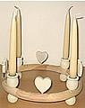 1 Holzstecker großes Herz, weiß
