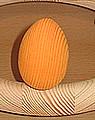 1 Holzstecker großes Osterei orange matt