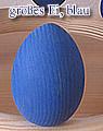 1 Holzstecker großes Osterei blau