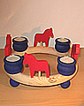 1 Holzstecker großes Pferd, rot