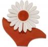 1 Nedholm Gerbera terracotta/white