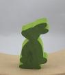 1 Holzstecker kleiner Osterhase, hellgrün