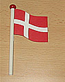1 Holzstecker Dänische Flagge