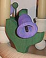 1 Holzstecker große Glockenblume, dunkellila