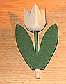 1 wood plug big tulip 2-leaved, white