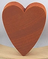 1 big swedish heart, dark orange