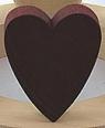 1 großes, schwedisches Herz, dunkelrot