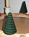 1 wood plug big fir tree, round d.green