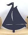 Großes, schwedisches großes Boot flach, dunkelblau