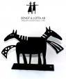 Bengt & Lotta Lucas napkin holder, black, h 12,5 cm