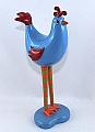 Schwedischer Hahn Rand, blau, 20x9 cm