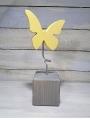 Talvel großer Schmetterling massiv mit Metallstab gelb, ohne Holzklotz