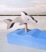 Talvel Stecker Delphin grau