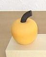 1 Holzstecker kleiner Apfel, gelb