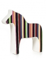 swedish Dalahorse randi, 13 cm, candy-striped