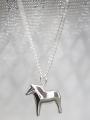 swedish necklace Dalahorse silver, 42 cm