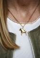 swedish necklace Dalahorse gold, 42 cm