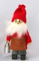 big swedish Santa with milk jug, H 19 cm