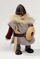Großer, schwedischer Wikinger mit Schwert und Schild, h 18 cm