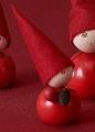 Aarikka Käpytonttu mit Tannenzapfen, Höhe 9 cm, rot, ohne Holzdübel