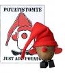 Rotor schwedischer Kartoffelweihnachtsmann - Potatistomte