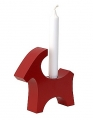 Rotor Kerzenhalter Ziegenbock, rot, H 17 cm