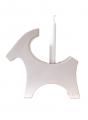 Rotor Kerzenhalter Ziegenbock, weiß, H 17 cm