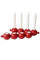 Rotor Candleholder Globe, red, l 37 cm